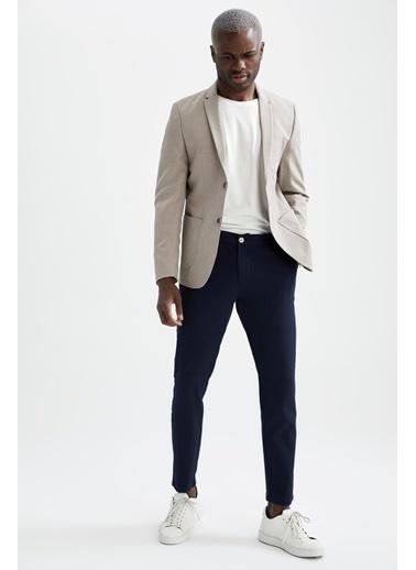 DeFacto Slim Fit Basic Blazer Ceket Bej
